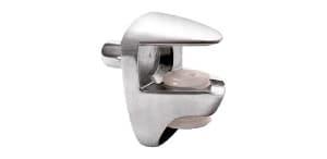 """נושא מדף חובק לזכוכית בעובי 5 עד 6 מ""""מ להרכבה עם פין בקדח 5 מ""""מ"""