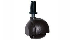"""גלגל יחיד בקוטר 40 ממ עם פין וכיפה עומס 40 ק""""ג"""