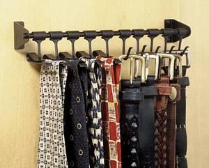 מתקן לעניבות וחגורות קבוע ניקל