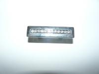 ידית 1112 ניקל מבריק משובץ קריסטל 32 ממ