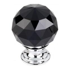 """כפתור קריסטל שחור 20 מ""""מ 301BL"""