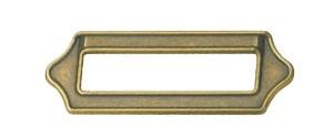 W5030 ידית מלבנית עם מסגרת לפיתקית 64 ממ ברונזה עתיק