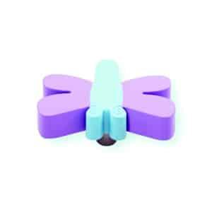 כפתור שפירית סגול - תכלת