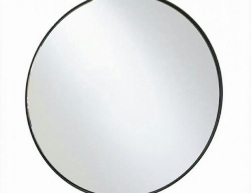 """מראה עגולה שחורה קוטר 50 ס""""מ,60 ס""""מ,80 ס""""מ"""