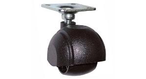 """גלגל יחיד עם פלטה בקוטר 50 מ""""מ עומס 80 ק""""ג"""