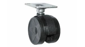 """גלגל כפול עם פלטה בקוטר 40 מ""""מ,עומס 20 ק""""ג"""