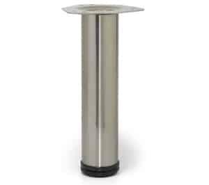 רגל מתכווננת עם פלטה לשולחן ניקל מוברש