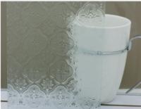 זכוכית דגם פרח צלב
