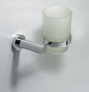 RO22 כוס זכוכית תלויה ניקל RONDO