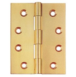 SBBB זוג צירי ספר פליז 1.5 אינץ זהב מט