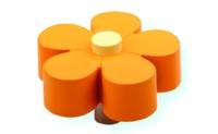 כפתור פרח תפוז - קרם