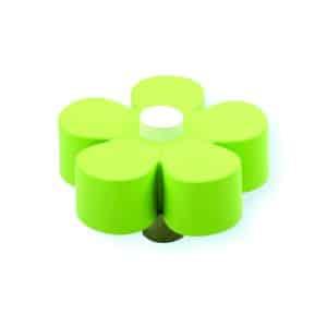 כפתור פרח ירקרק - לבן