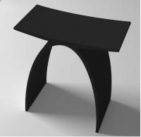 """ספסל שחור-במקום 1750ש""""ח-1350ש""""ח"""