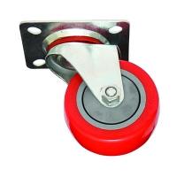 גלגל ניילון + פוליאוריטן (צבע אדום)