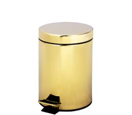 פח אשפה 3 ליטר זהב